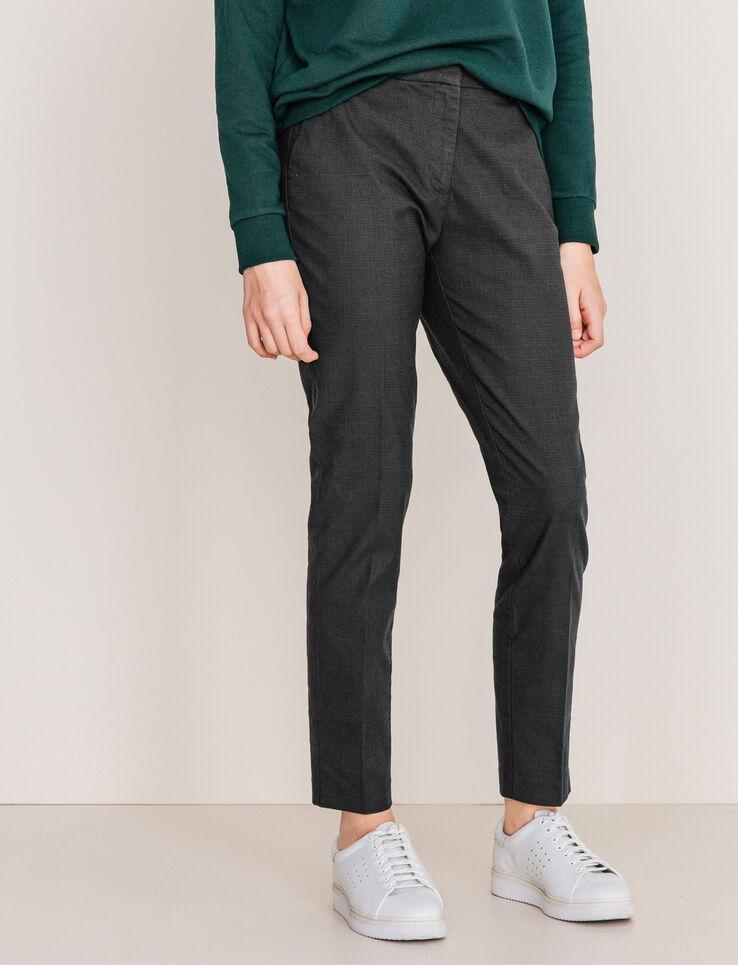 pantalon carreaux prince de galles femme gris carreaux. Black Bedroom Furniture Sets. Home Design Ideas