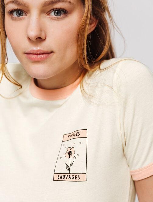 """T-shirt message """"Pensées sauvages""""  femme"""