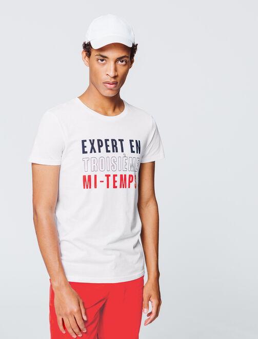 """T-shirt à message """"Expert en troisième mi-temps"""" homme"""