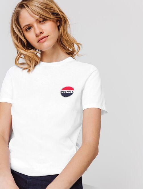 T-shirt logo PSCHITT femme
