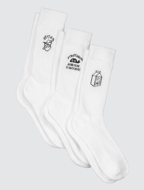 Chaussettes de sport à message homme