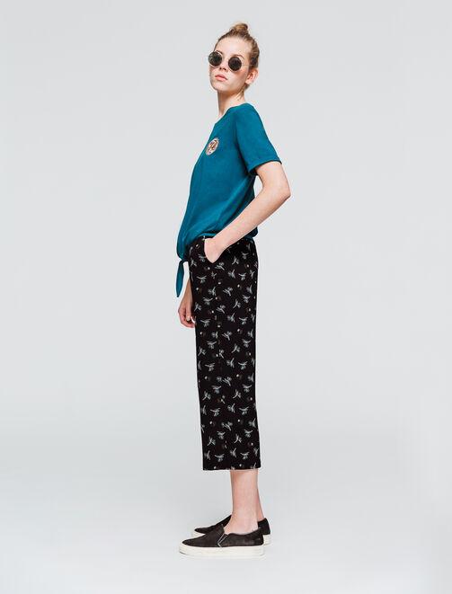 Pantalon fluide imprimé cone femme