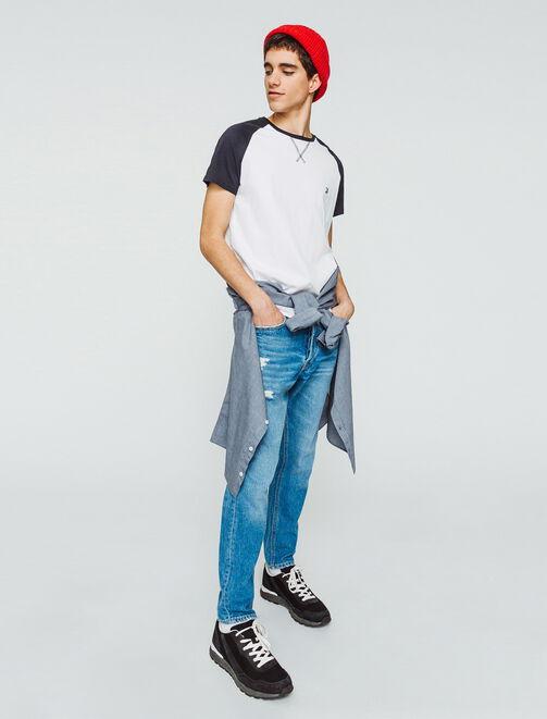 T-shirt raglan bicolore homme