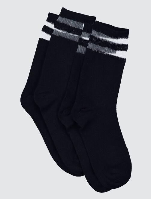 Chaussettes Sport Bandes Transparentes femme