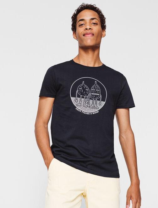"""T-shirt message """"Deux figues a Miami"""" homme"""
