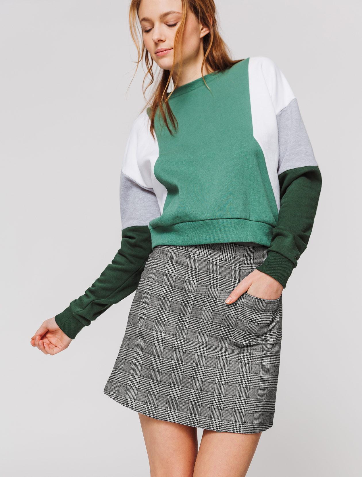 Jupe carreaux avec poches femme
