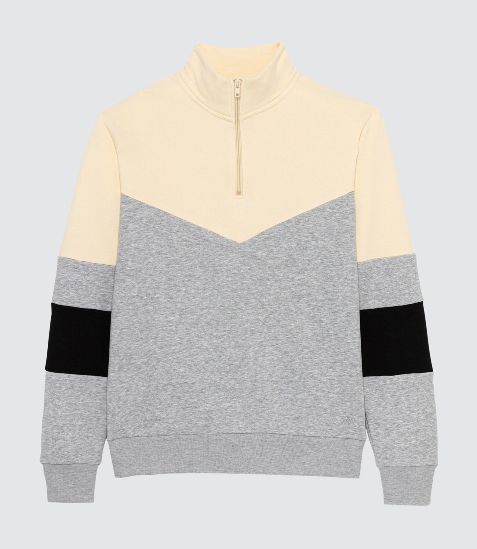 Sweat col montant zippé colorblock