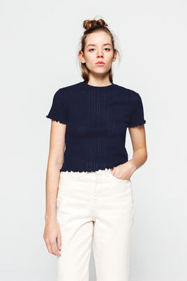 T-shirt ajouré en coton bio