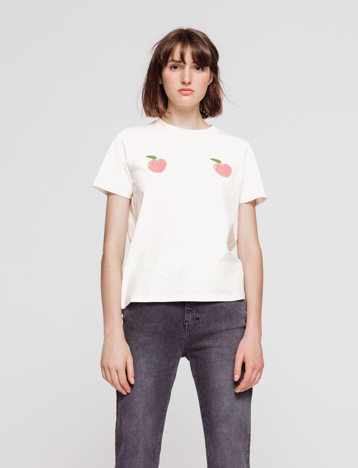 T-shirt imprimé pêche en coton bio