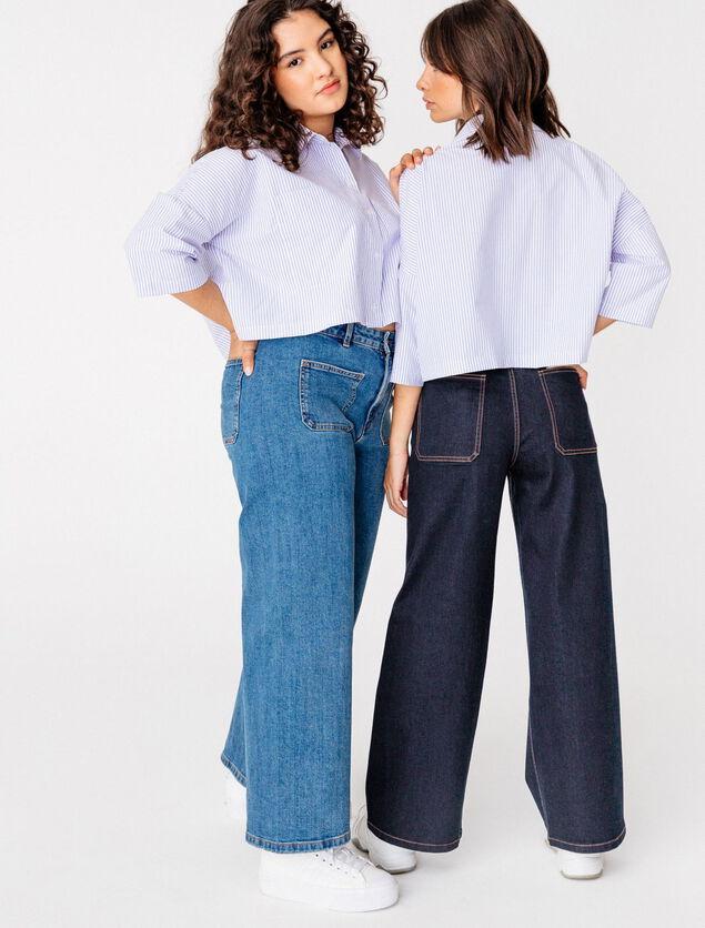 Jean Wide Leg Court Coton Recyclé
