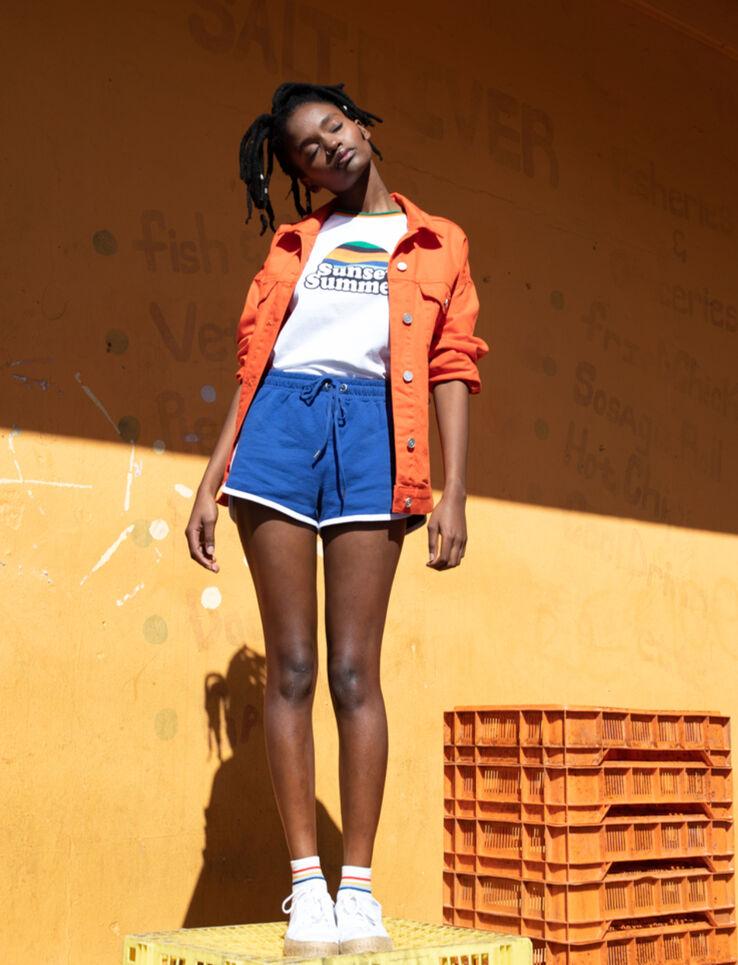 """T-shirt à message """" Sunset summer"""""""