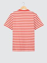 T-shirt loose rayé en coton BIO