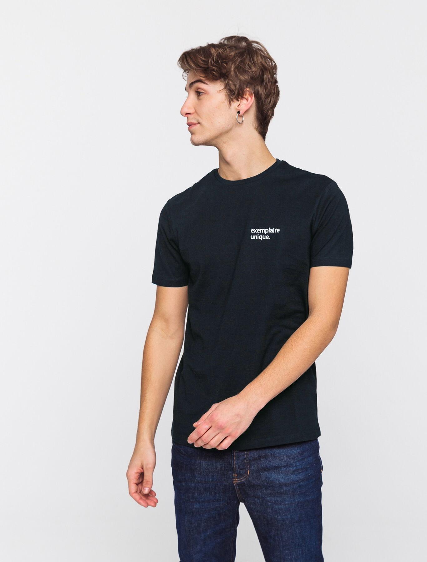 T-shirt à message brodé en coton BIO
