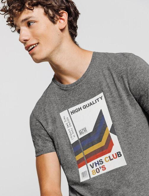 T-shirt print vintage 80's homme