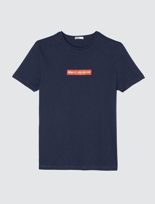 """T-shirt à message """"Merci au revoir"""" homme"""