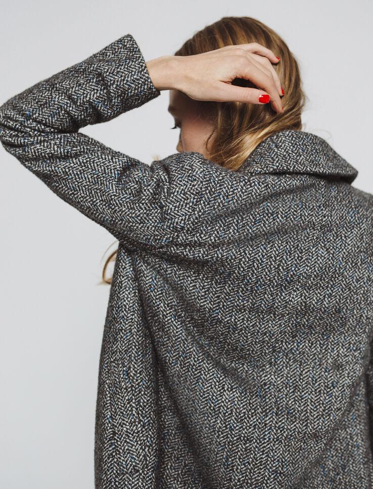 Manteau lainage chevrons - laine majoritaire