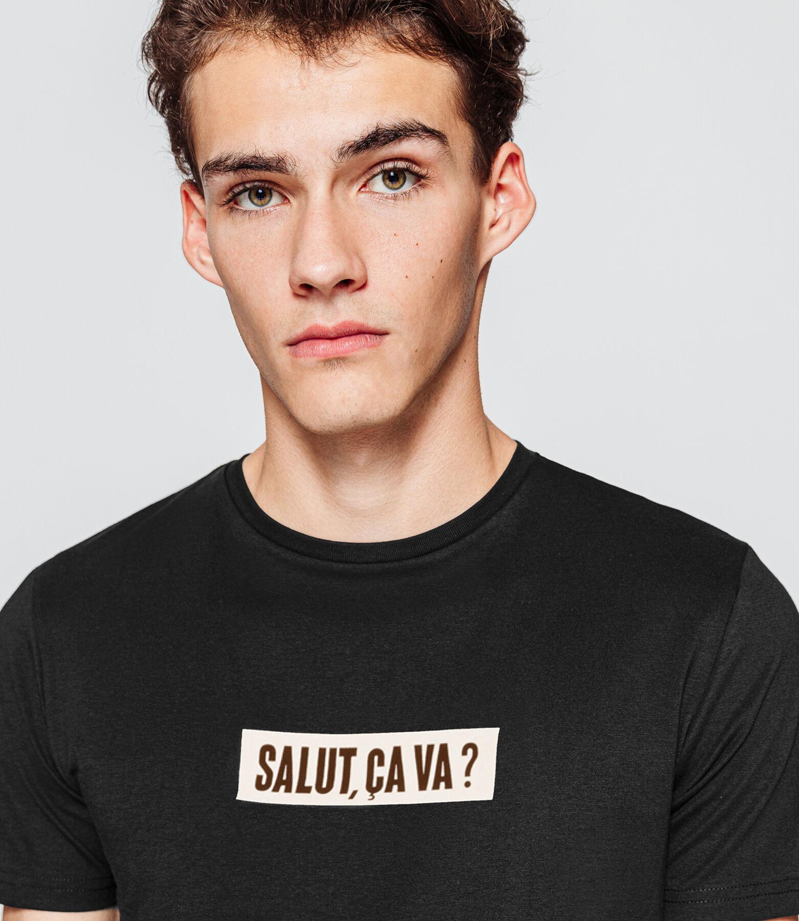 "T-shirt  à message ""Salut, ça va?"""