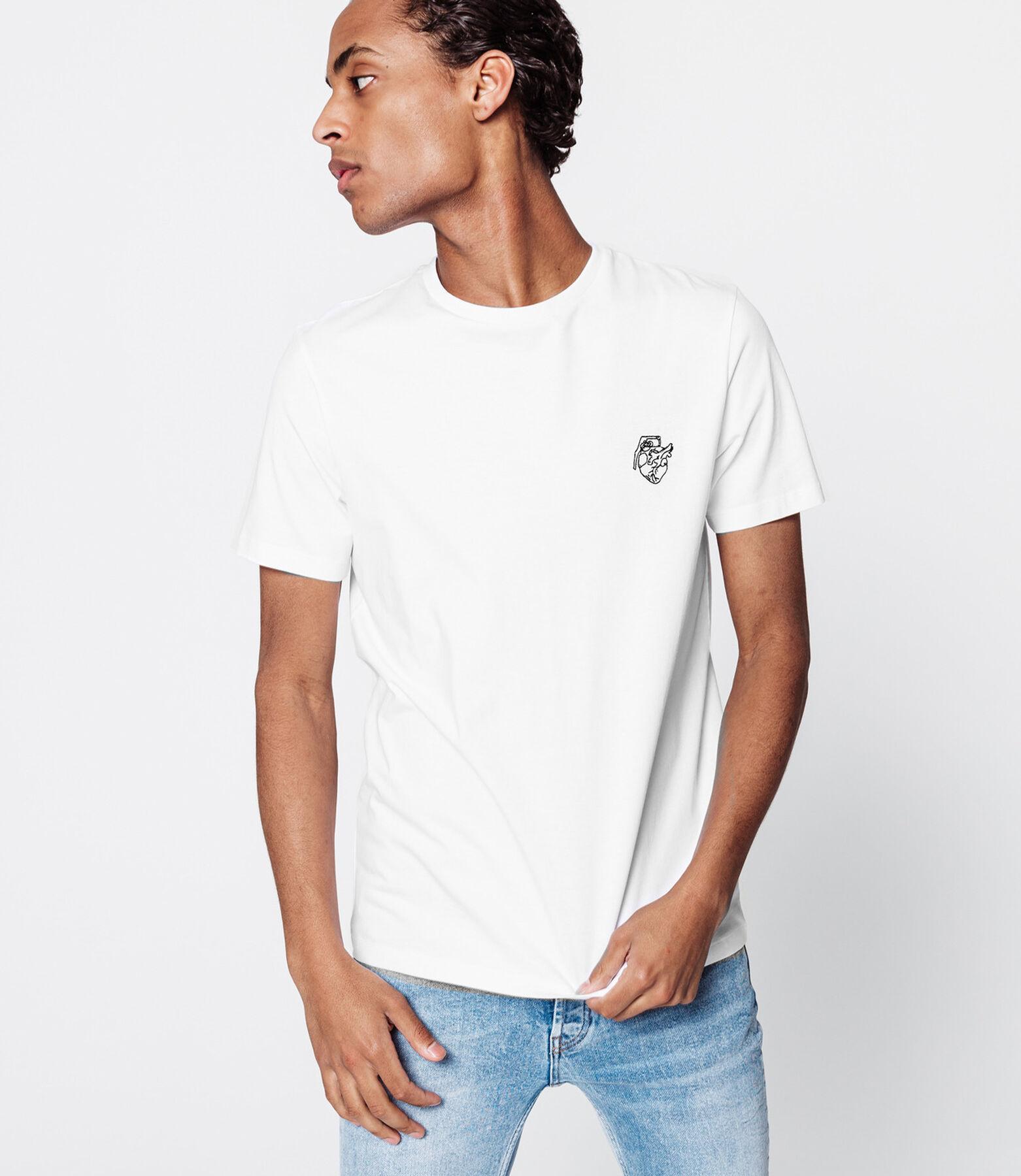 """T-shirt brodé """"coeurnade"""" issu de l'agriculture bi"""