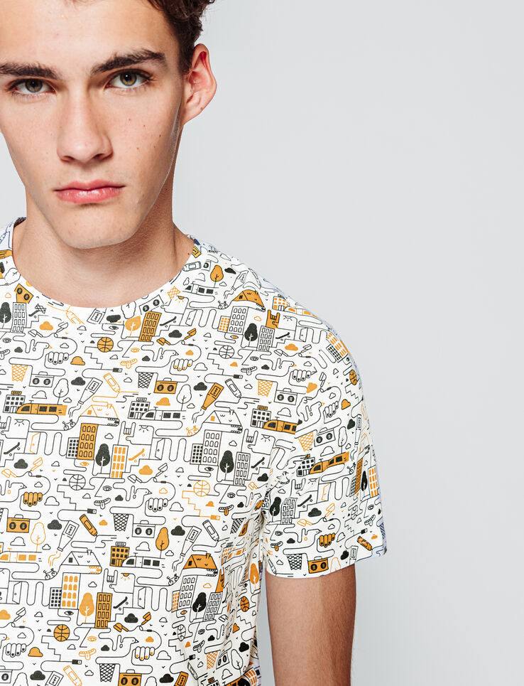 T-shirt all over dessin BD