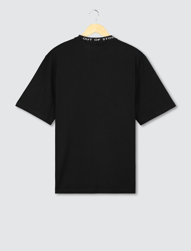 T-shirt col jacquard
