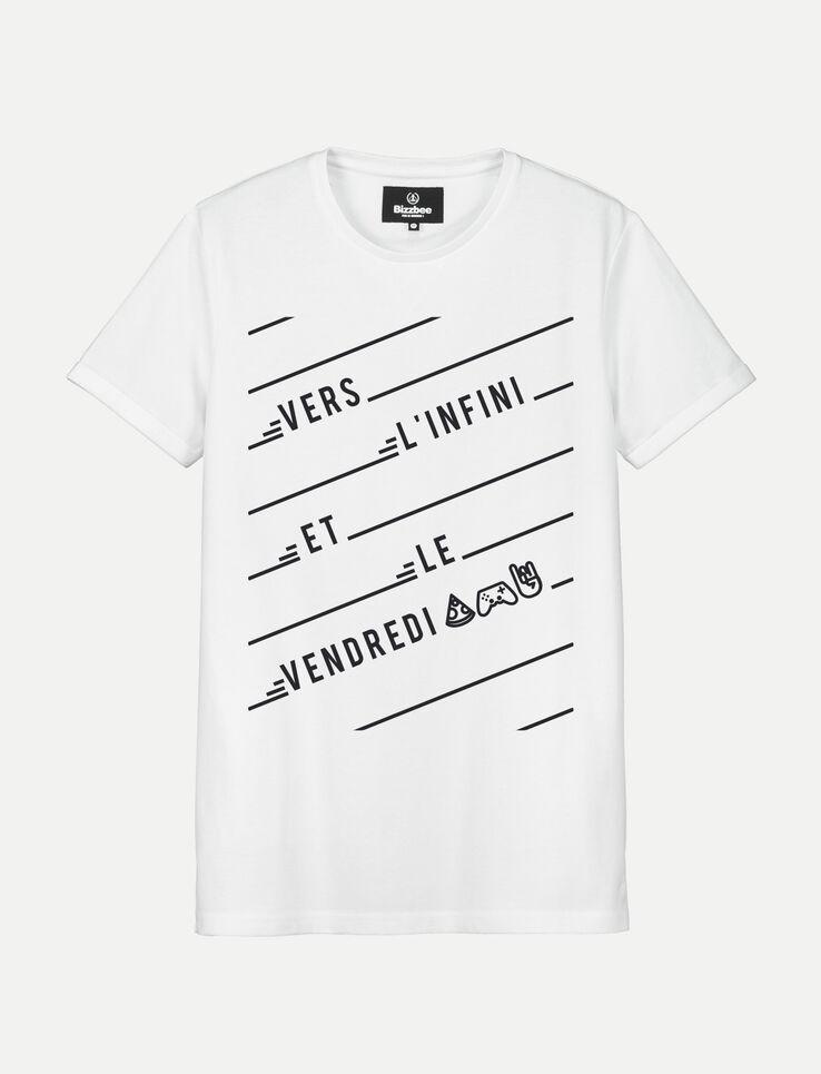 "T-shirt Humour ""Vers l'infini et le vendredi"""