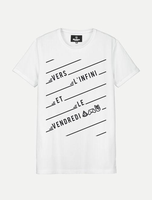 """T-shirt Humour """"Vers l'infini et le vendredi"""" homme"""