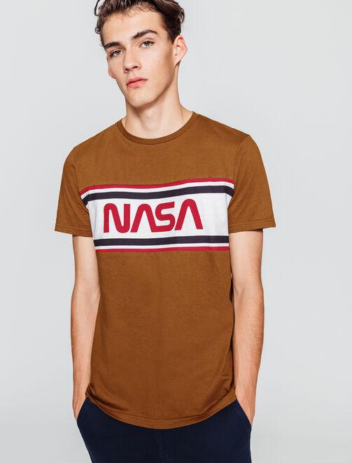 T-shirt NASA logo placé homme