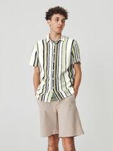 Chemise manches courtes rayée ECOVERO