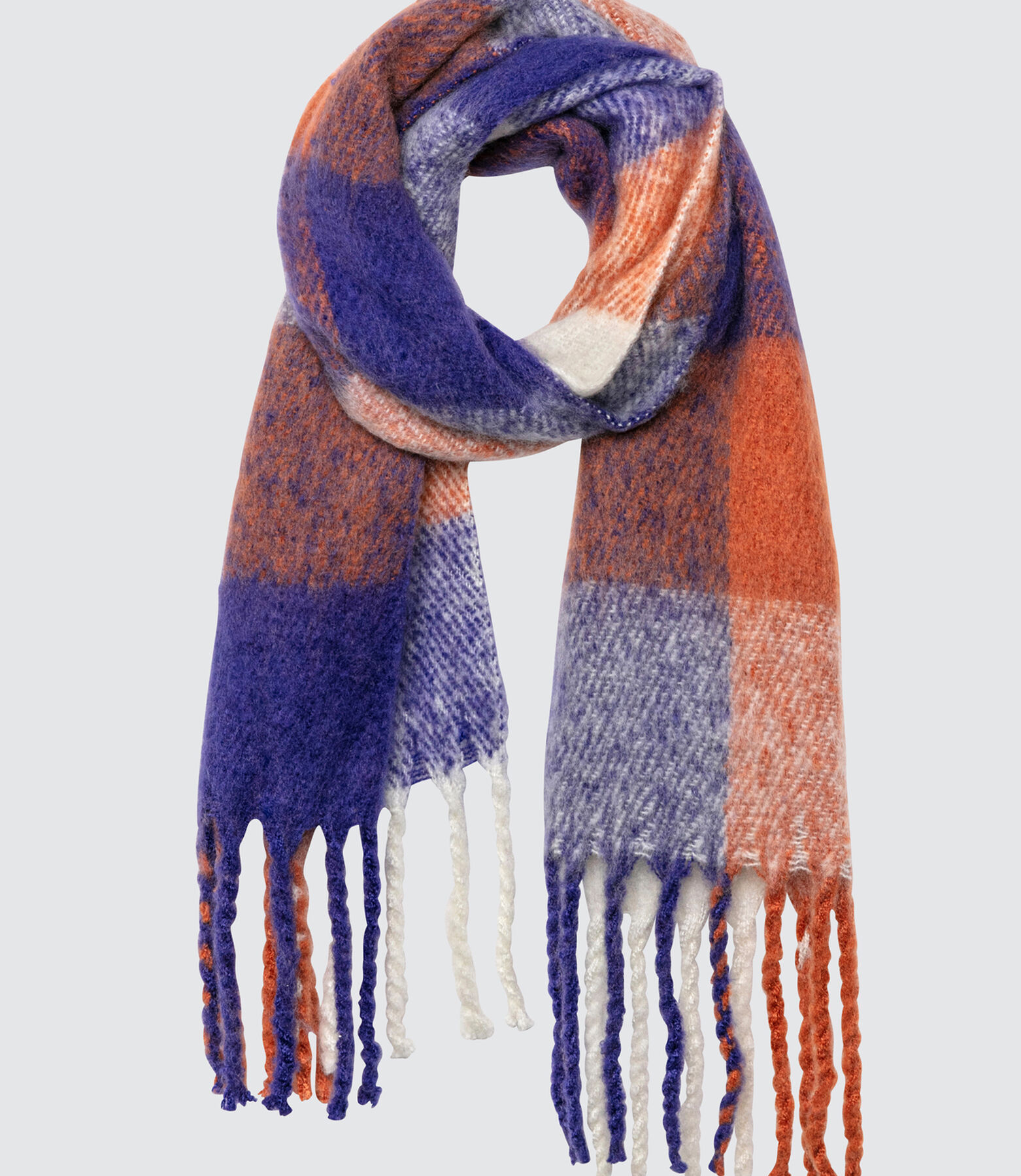 Foulard Chaud Gratté à Carreaux