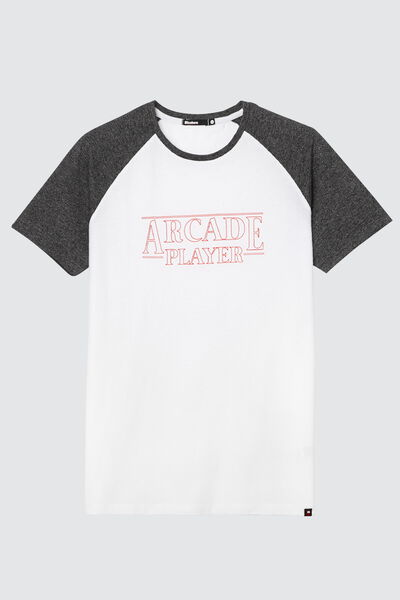 "T-shirt raglan à message ""Arcade Player"""