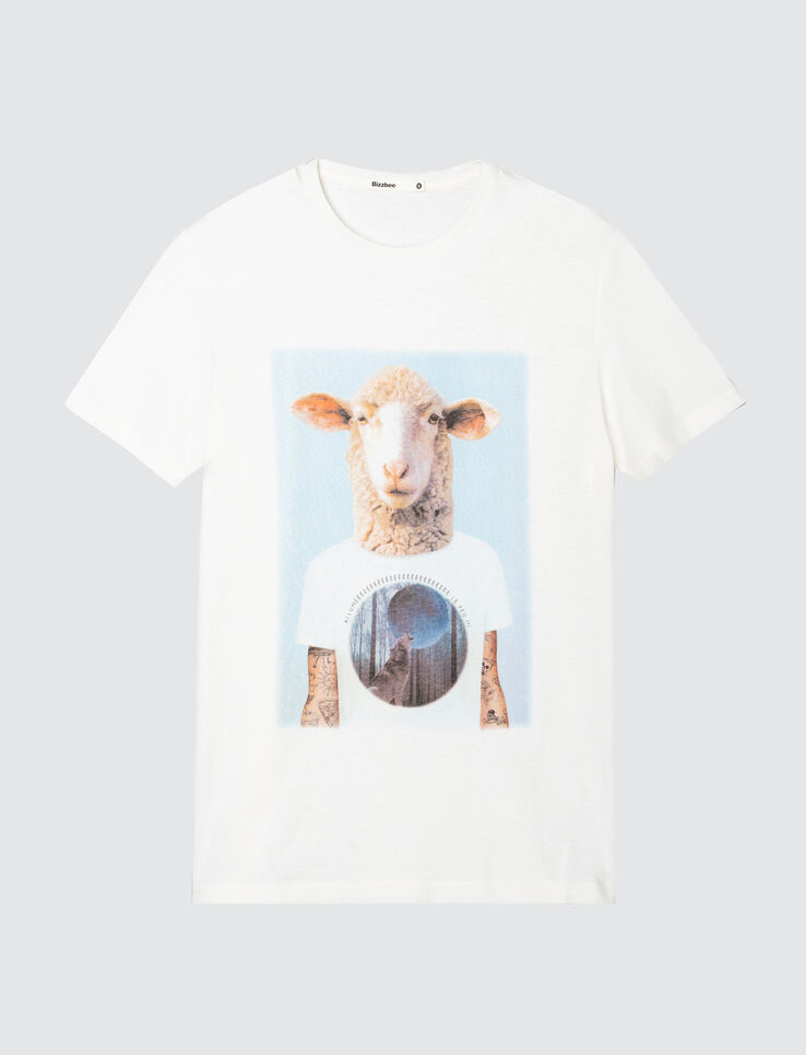 T-shirt photoprint mouton