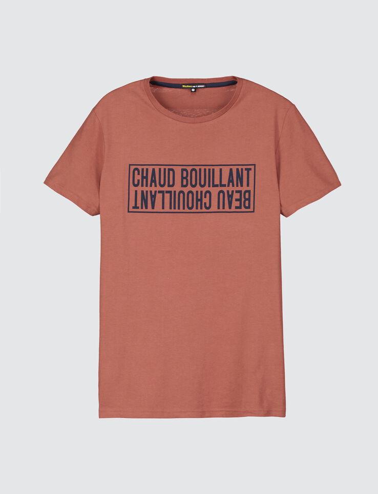 """T-shirt message """"chaud bouillant beau chouillant"""""""