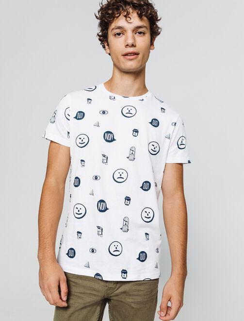 T-shirt imprimé répétitifs homme