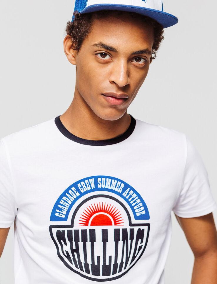"""T-shirt imprimé message """"Chilling"""""""