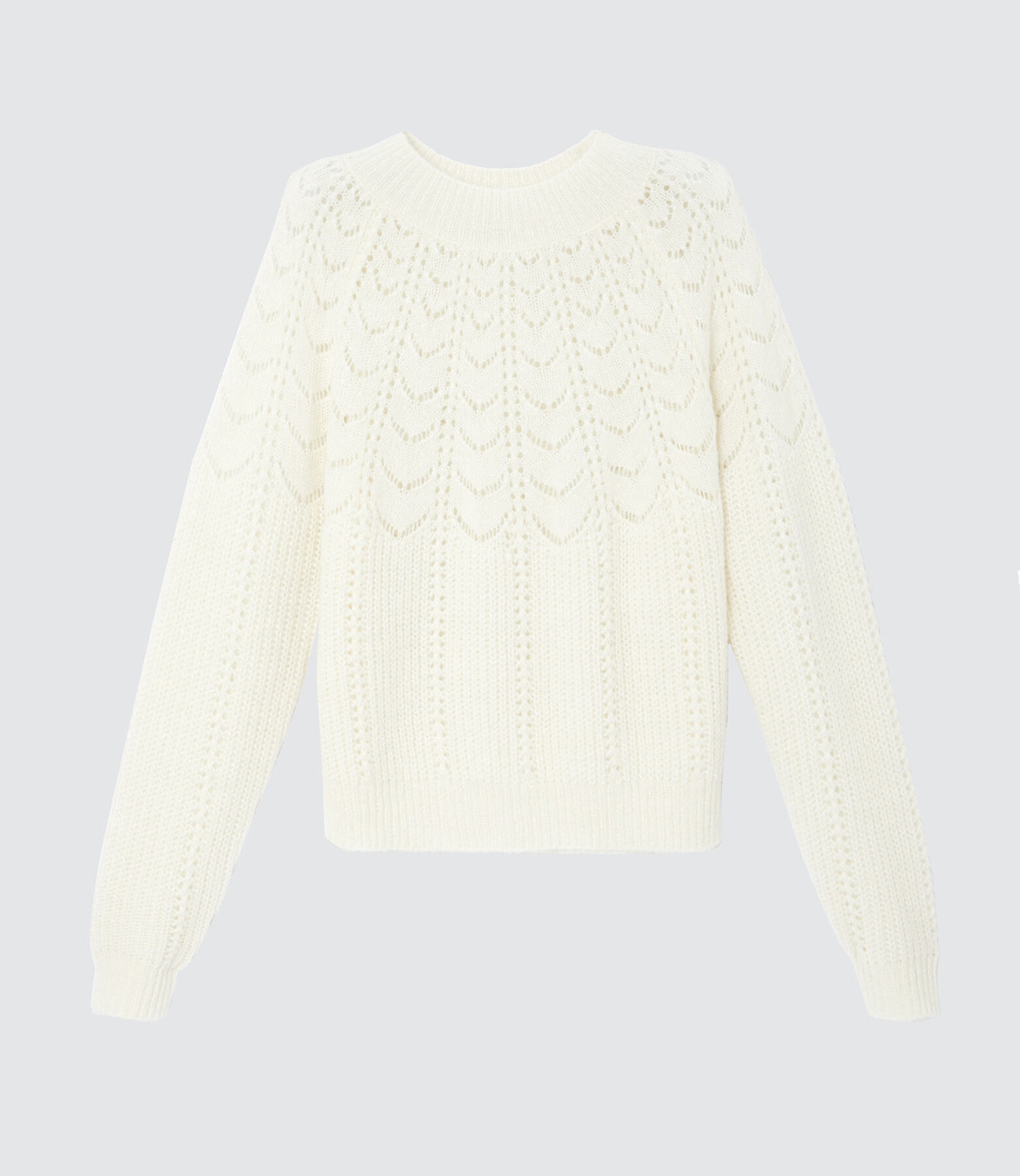 Pull chaud maille pointelle