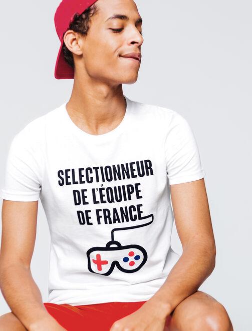 """T-shirt à message Coupe du Monde """"Sélectionneur"""" homme"""
