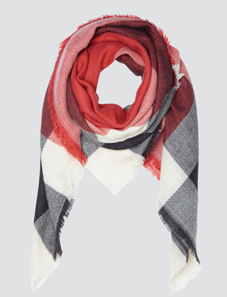 Foulard grands carreaux