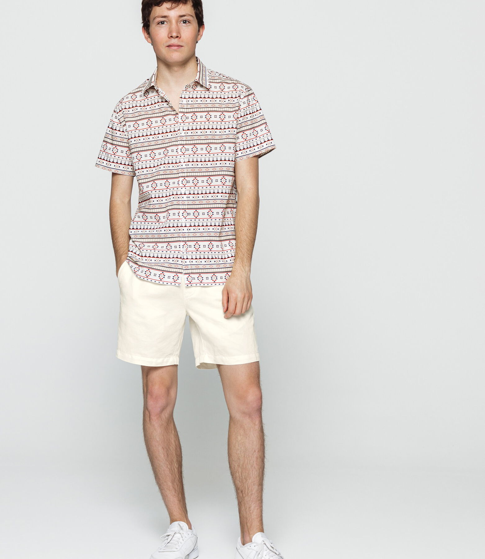 Bermuda coton lin