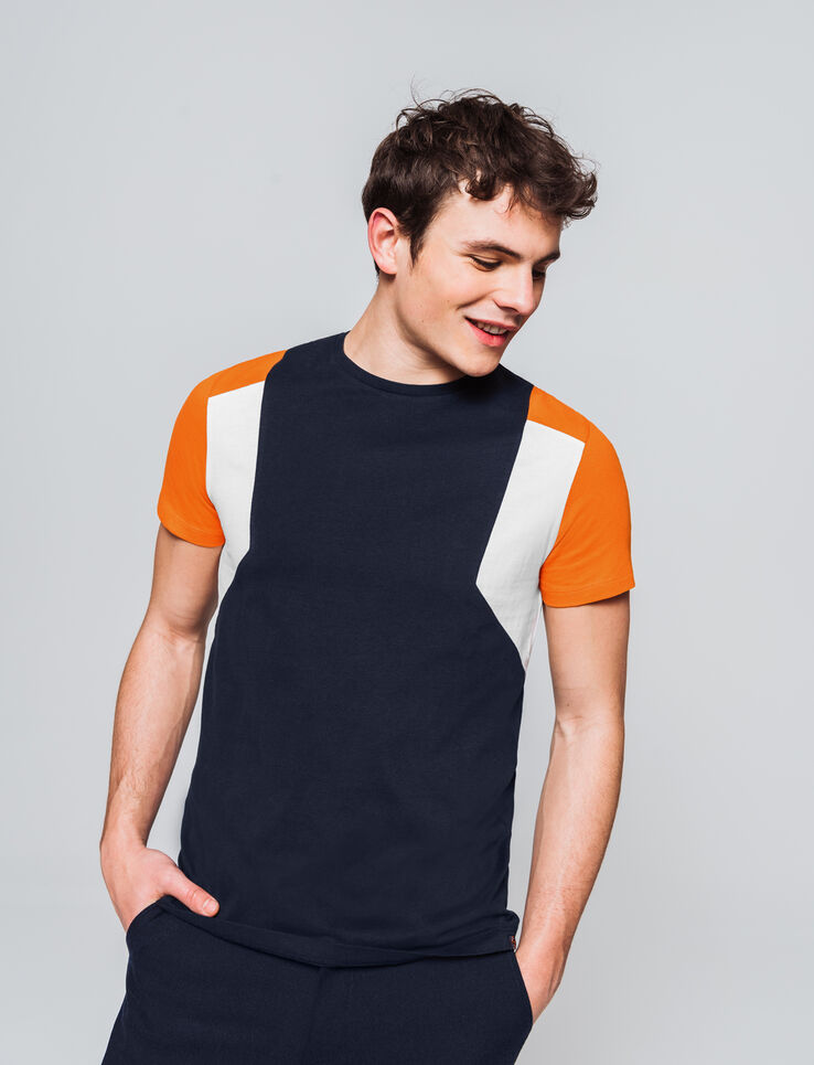 T-shirt néo colorblock