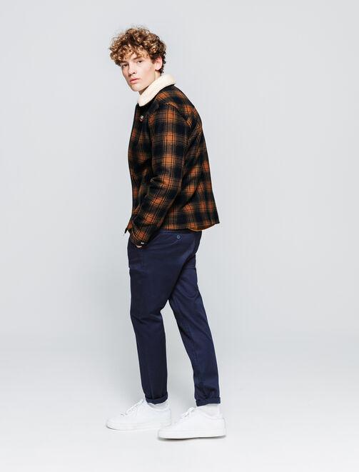 Veste en lainage à carreaux homme