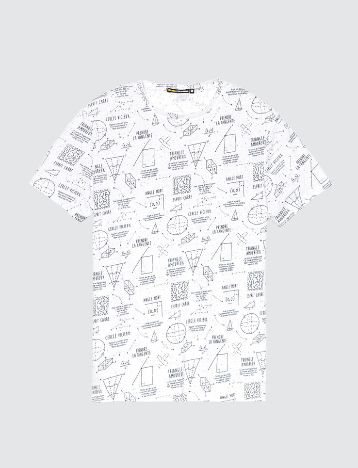 T-shirt motif théorèmes mathématiques