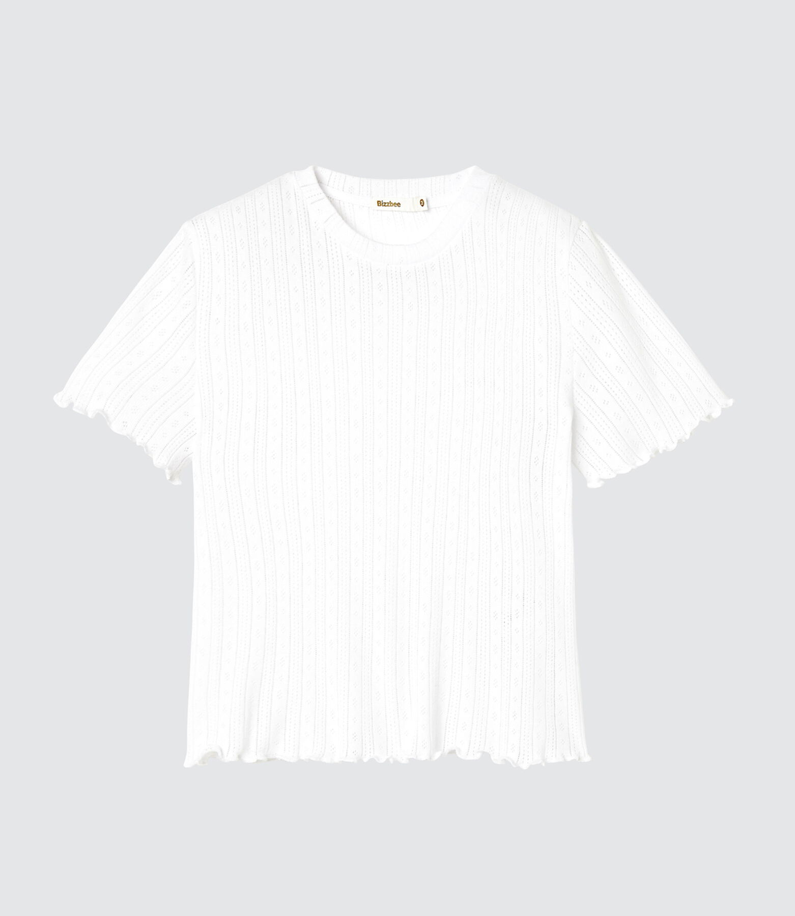 T-shirt ajouré en coton issu de l'agriculture biol