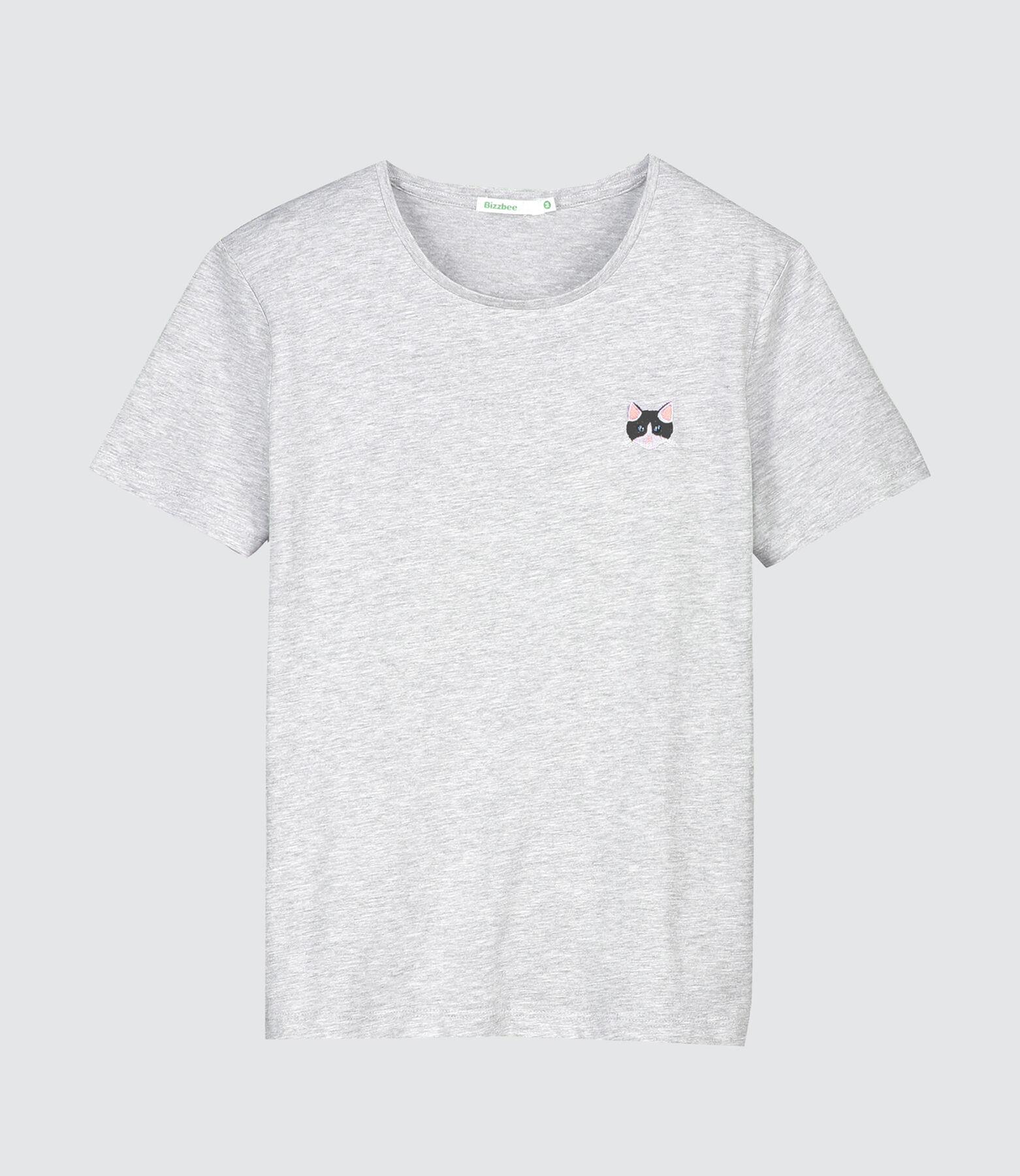 T-shirt brodé tête de chat