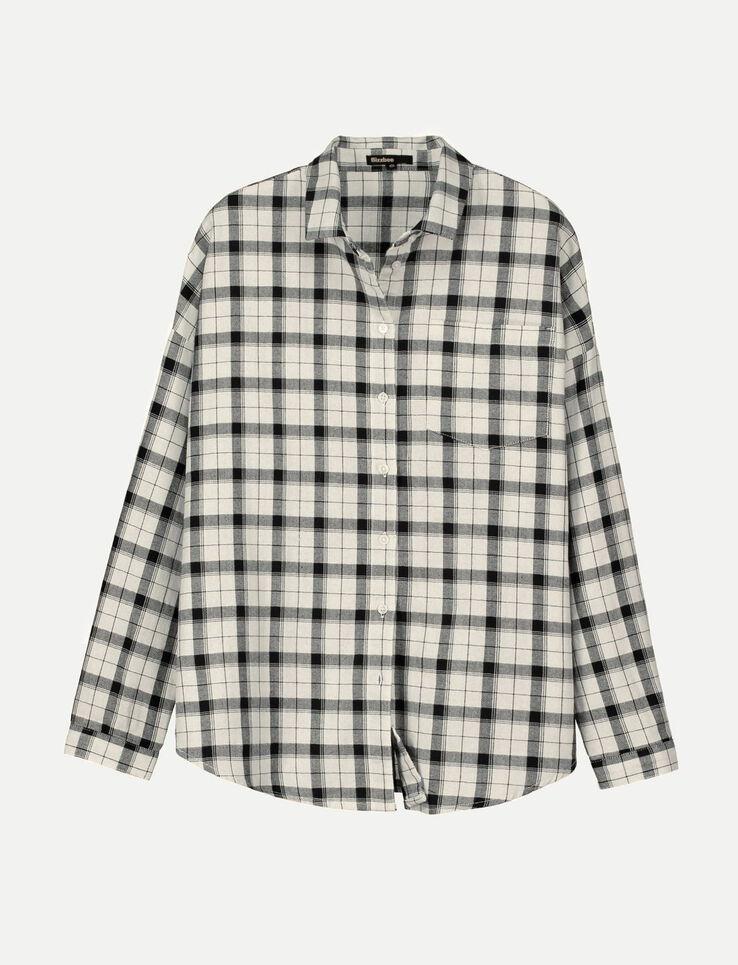Chemise à carreaux détail lurex