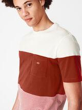 T-shirt colorblock poche
