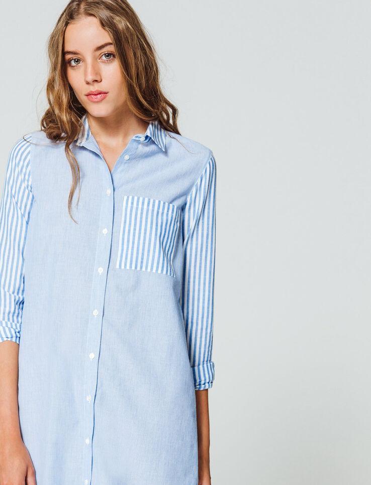 Robe chemise à rayures