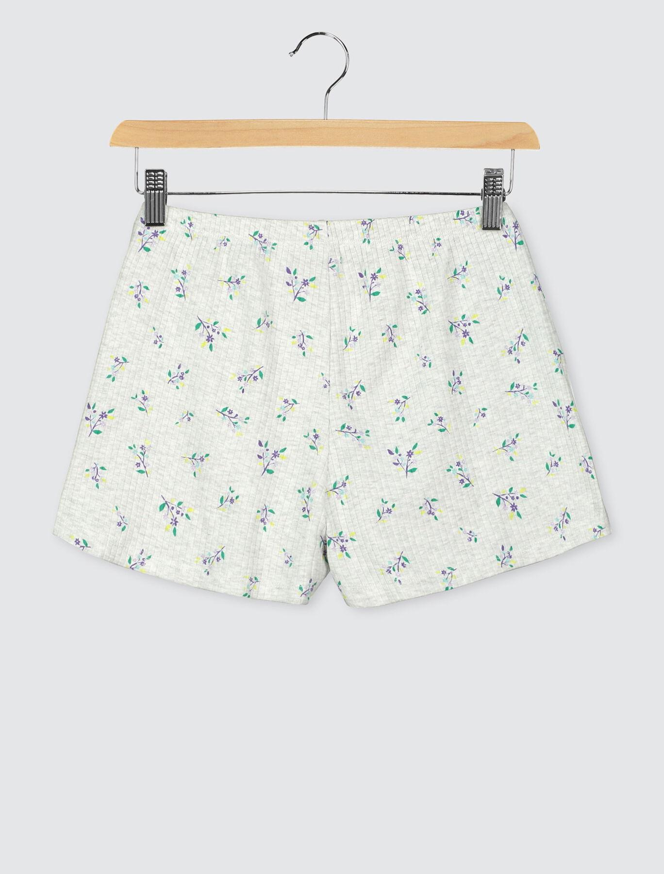 Short de pyjama fleurs