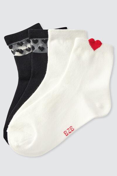 Lot de 2 paires de chaussettes cœur IAB