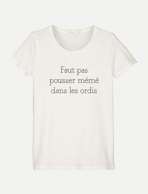 """T-shirt à message """"mémé dans les ordis"""" femme"""