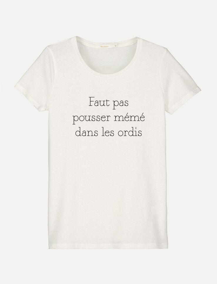 """T-shirt à message """"mémé dans les ordis"""""""